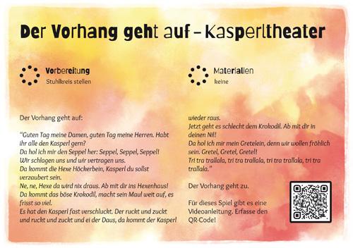 Stuhlkreis-Schatz Spielkarte Der Vorhang geht auf - Kasperltheater 2