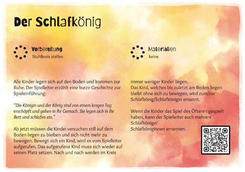 Stuhlkreis-Schatz Spielkarte Der Schlafkönig 4