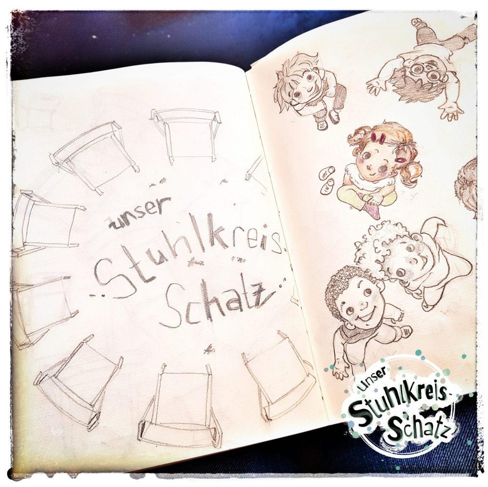 Stuhlkreis-Schatz Skizzen