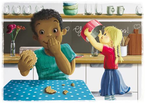Stuhlkreis-Schatz Spielkarte Wer hat den Keks aus der Dose geklaut?