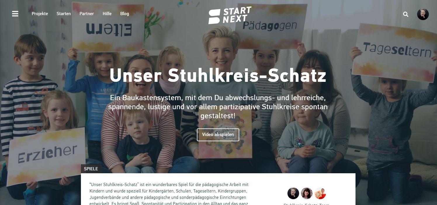 Stuhlkreis-Schatz Crowdfunding