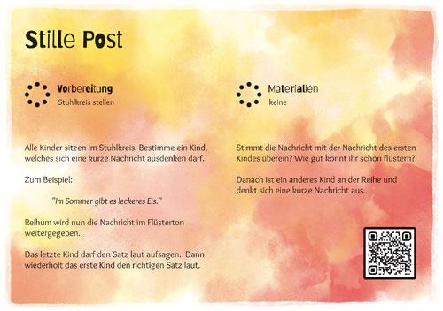 Stuhlkreis-Schatz Spielkarte Stille Post